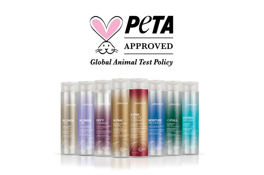 Joico, certificada por PETA como marca #crueltyfree